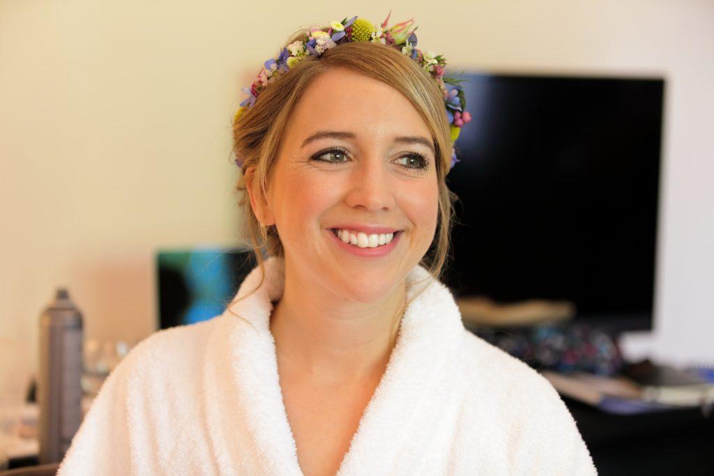 Styling Braut Blumenkranz