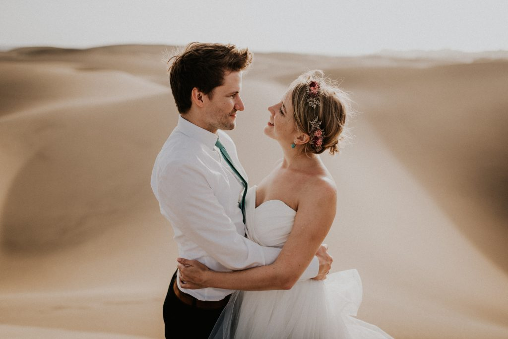 Spanien Reise Gran Canaria Maspalomas Shooting Hochzeitskleid