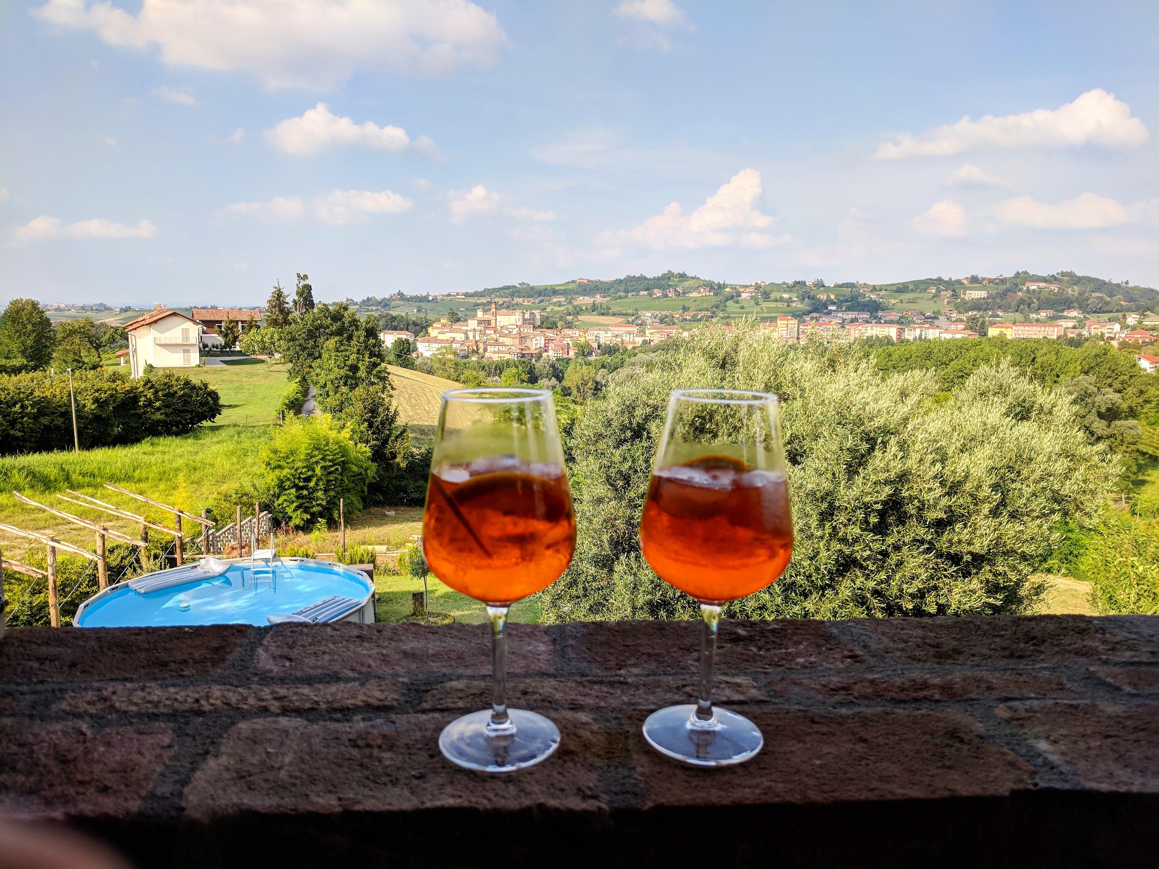 Costigliole d'Asti Piemont Italien Weinberge