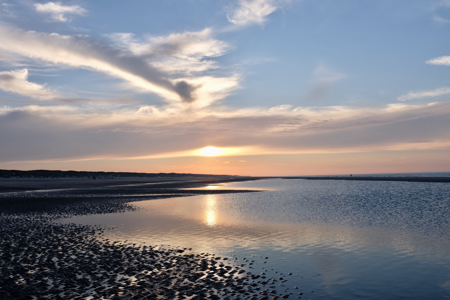 Strand Juist Sonnenuntrgang Oktober