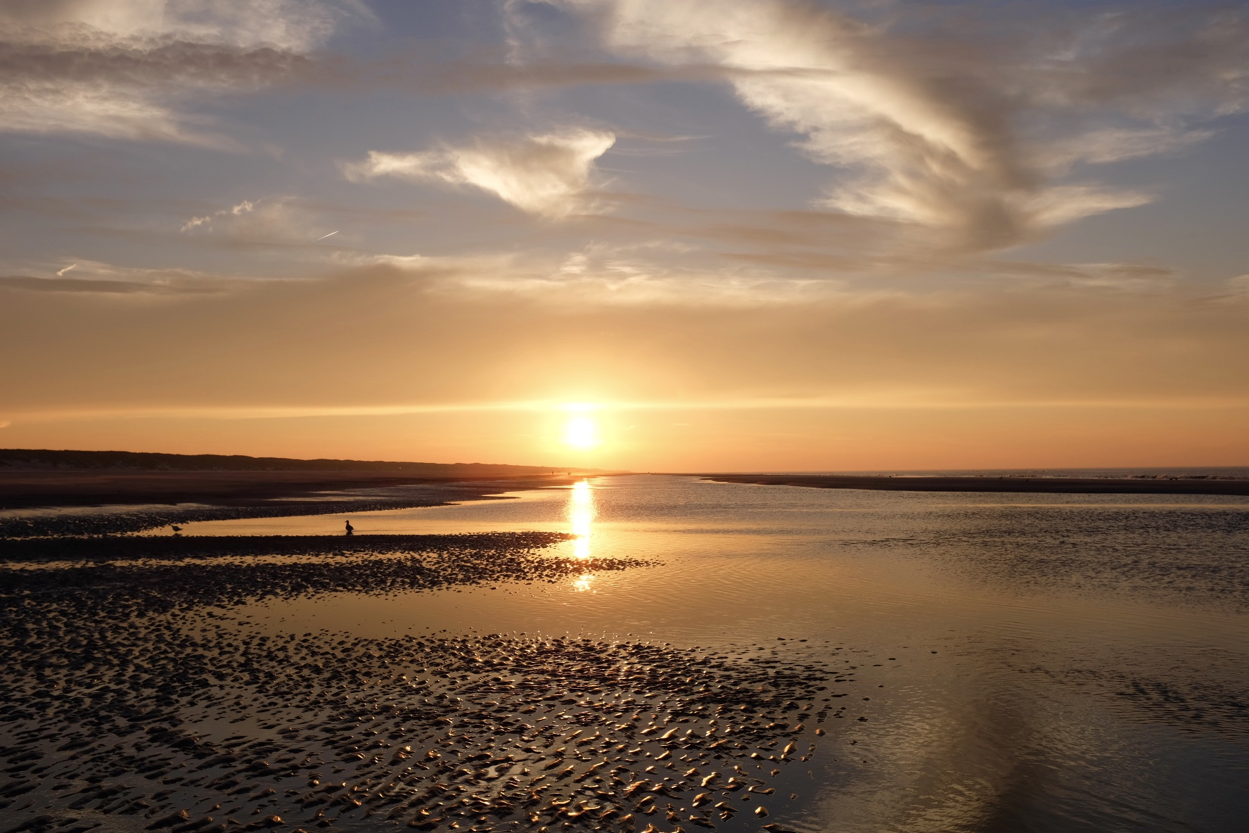 Sonnenuntrgang Nordsee Meer Wattenmeer Juist